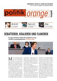 Debattieren, koalieren unD flanieren - Politikorange.de