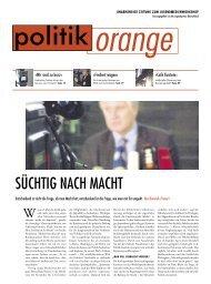 SÜCHTIG NACH MACHT - Politikorange.de