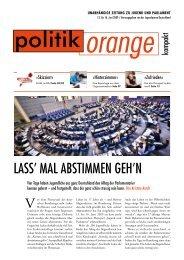 LASS' mAL AbSTimmen geH'n - Politikorange.de