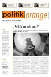 """""""Politik braucht euch!"""" - Politikorange.de"""