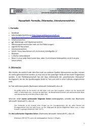 Hausarbeit: Formalia, Zitierweise, Literaturverzeichnis - Institut für ...