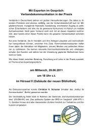 Mit Experten im Gespräch - Institut für Politikwissenschaft und ...
