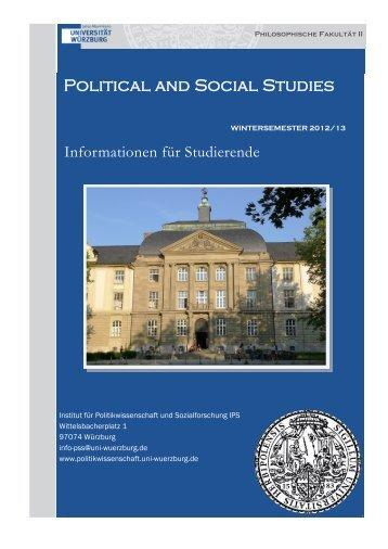 Informationsbroschüre - Institut für Politikwissenschaft und ...