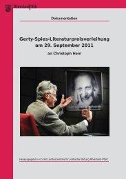 Die Dokumentation der Gerty-Spies-Preisverleihung 2011 liegt