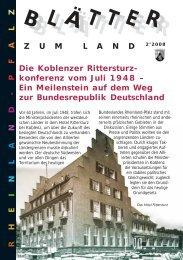 Die Koblenzer Rittersturzkonferenz vom Junli 1948 - Landeszentrale ...