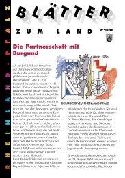 Die Partnerschaft mit Burgund - Landeszentrale für politische ...
