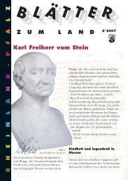 Karl Freiherr vom Stein - Landeszentrale für politische Bildung ...