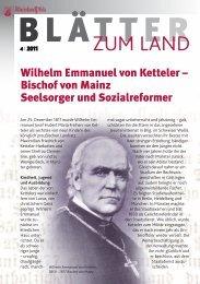 Wilhelm Emmanual von Ketteler - Landeszentrale für politische ...