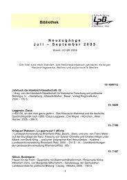 Bibliothek - Landeszentrale für politische Bildung Rheinland-Pfalz