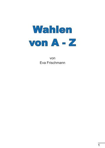 Wahlen von A - Z - Landeszentrale für politische Bildung