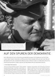 AUF DEN SPUREN DER DEMOKRATIE - Politische Radreisen