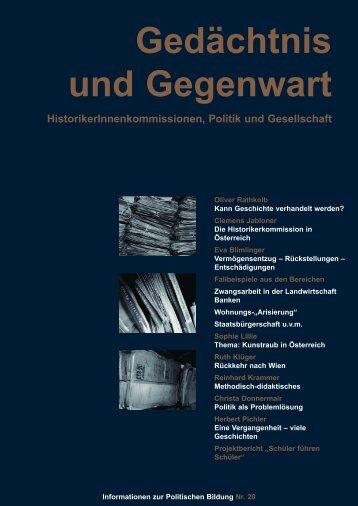 Gedächtnis und Gegenwart - Forum Politische Bildung
