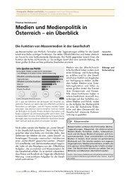 Medien und Medienpolitik in Österreich – ein Überblick
