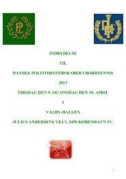 Invitation - Dansk Politiidrætsforbund