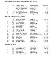 Dansk Politimesterskab i landevejscykling 2012 - linieløb