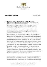 Bodenseekonferenz 17-1-08 - Polizei Baden-Württemberg