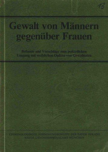 Gewalt von Männern gegenüber Frauen - Polizei Bayern