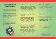 Vorsicht Falle! - Polizei Bayern