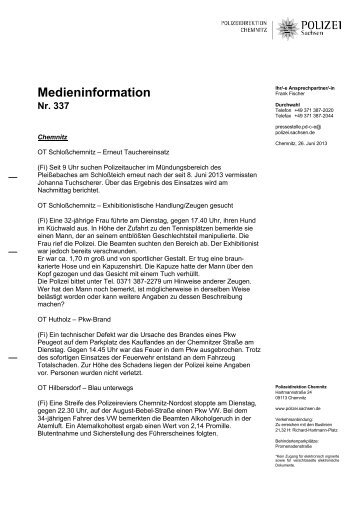 Medieninformation [Download *.pdf, 97.43 KB] - Polizei Sachsen