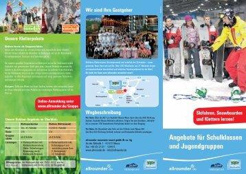 Angebote für Schulklassen und Jugendgruppen Skifahren ...