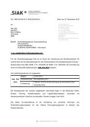 Erledigung SIAK (Serienbrief - Extern) - Polizei FCG