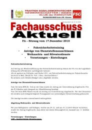 FA – Sitzung vom 17.Dezember 2010 ... - FSG