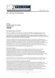 BDG-Novelle Stellungnahme - Polizei FCG