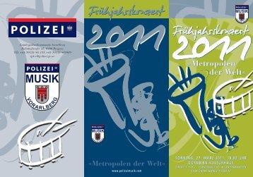Folder als PDF hier zum Downloaden - Polizeimusik Vorarlberg