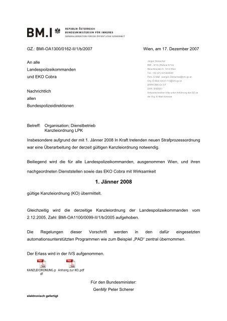 1. Jänner 2008 - FSG