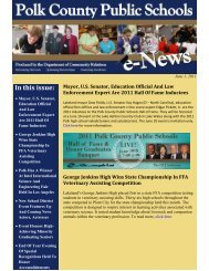 In this issue: - Polk County School District
