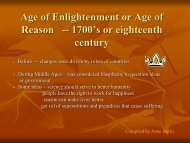 Age of Enlightenment or Age of Reason -- 1700's or eighteenth century