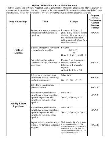 EOCT Biology Study Guide REV08.07.08