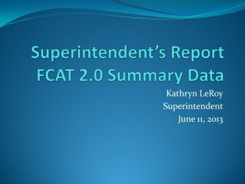 View the Superintendent's Report.
