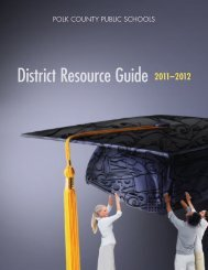 District Resource Guide - Polk County School District
