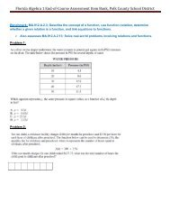 Algebra 1 and Geometry End-of-Course Assessment Reference Sheet