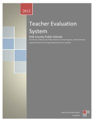 Teacher Evaluation System - Polk County School District