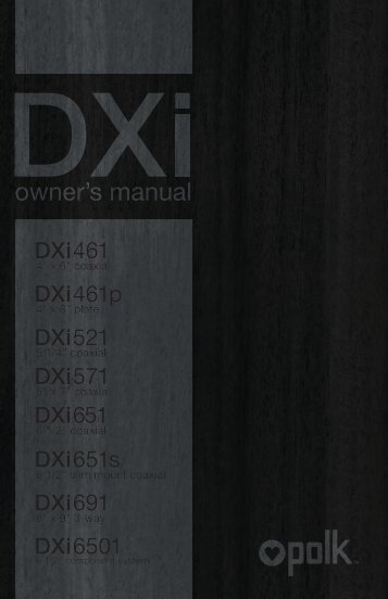 owner's manual - Polk Audio