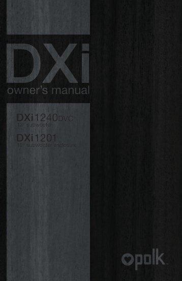 owner's manual - Polk Audio