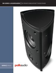 Rm series loudspeakers big speaker sound without the ... - Polk Audio