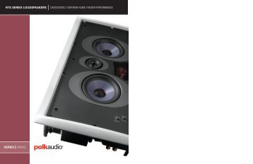 RTS Catalog English - Polk Audio