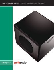 PSW Catalog English - Polk Audio
