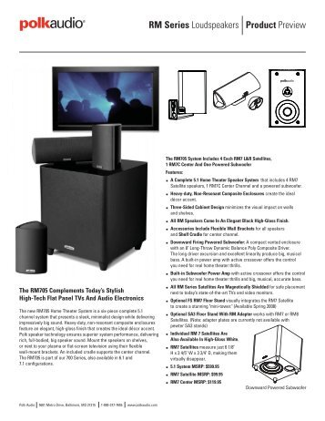 Product Preview RM Series Loudspeakers - Polk Audio