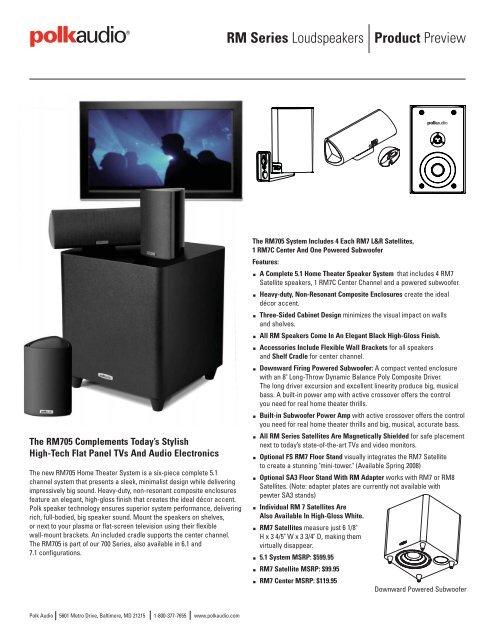 Product Preview Rm Series Loudspeakers Polk Audio
