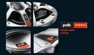mobile audio catalog - Polk Audio