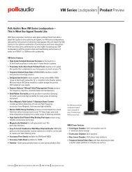 Product Preview VM Series Loudspeakers - Polk Audio