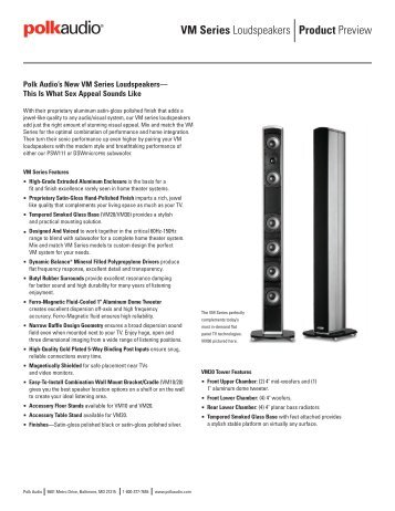 Product Preview VM Series Loudspeakers - Polk Audio