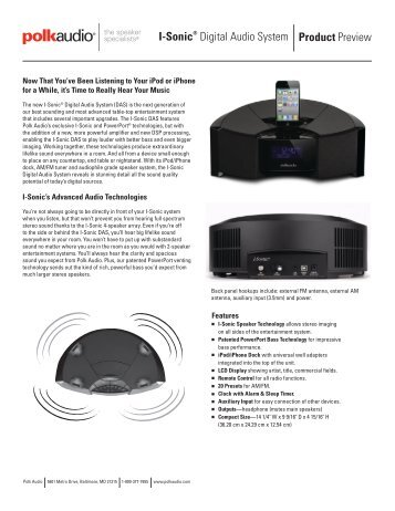 Product Preview_02.indd - Polk Audio
