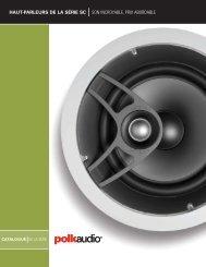 haut-parleurs de la série sc son incroyable, prix ... - Polk Audio