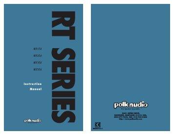 RTi Manual - Polk Audio