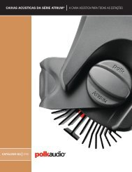 caixas acústicas da série atrium® a caixa acústica para ... - Polk Audio